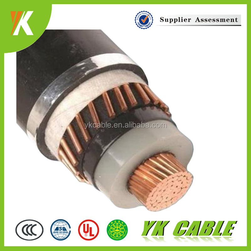 China OEM factory standard sizes 400mm 120kv high voltage power cable
