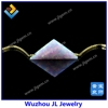 Factory wholesale 925 chain white opal triangle 2015 neckalce