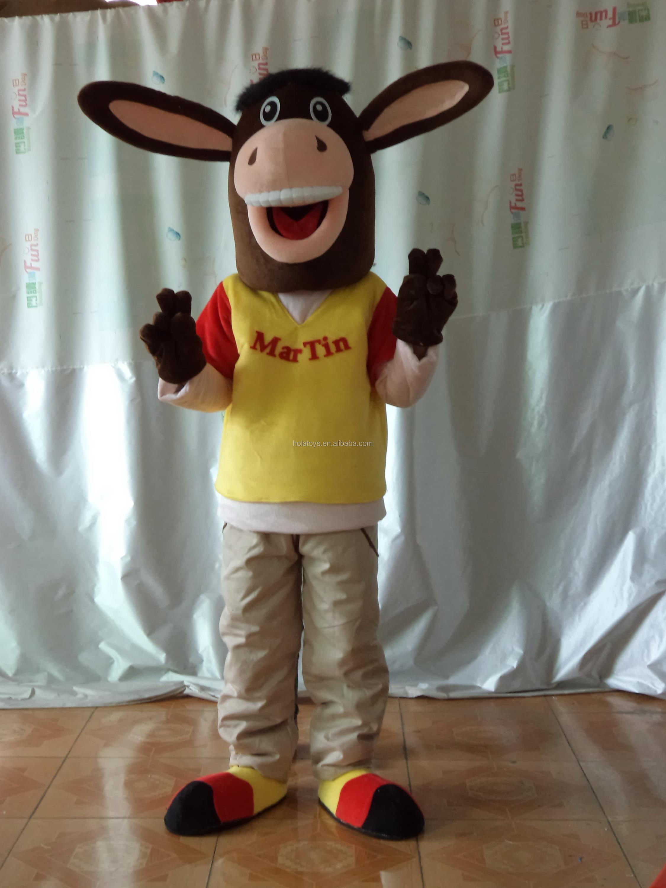 Donkey cosplay costume/animal donkey costume for sale