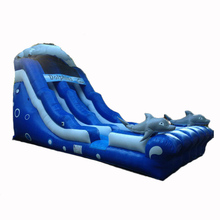 most popular 18 ft Dolphin Wave inflatable water slide/ wet dry slide/ waterslide supplier china