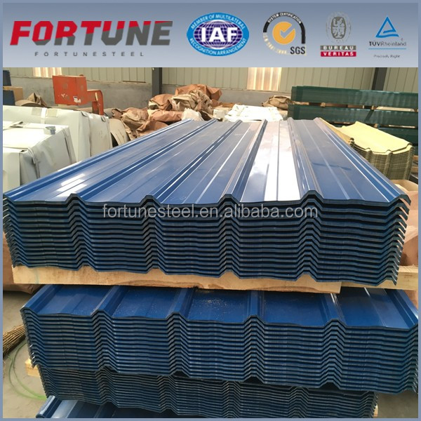 High-class Zinc coated metal corrugated metal galvanized black Prepainted trapezoid roof sheet, factory price ppgi roof steel