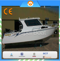 Deep V 7.5m Aluminum Cabin Fishing Boat With Outboard Engine