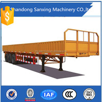 china supplier 3 axles cattle livestock semi trailer air bag suspension for sale