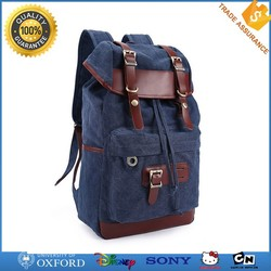 China Wholesale New Design Rucksack Bag Men's Fashion Leather Canvas Backpack