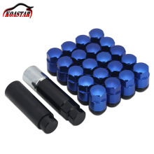 Forge Steel Wheel Lock Nuts Blue Racing Lug Nuts 35MM 12x1.5 1.25