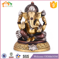 Factory Custom made home decoration polyresin lord ganesh statue