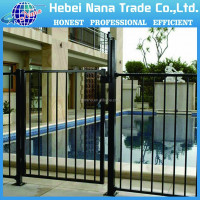 Garden green artificial galvanized steel iron garden fence design