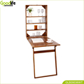 wooden wall mount dining table kitchen table for saving