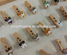 hot sale top quality new products promotion items clips alibaba express cute logo wooden mini animal pegs