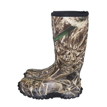 Customized Men's Waterproof Insulated Camo Neoprene Rubber Hunting Boots