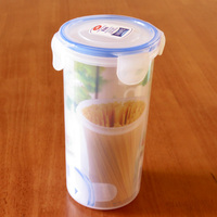 750ml cylindrical food storage container with airtight lid