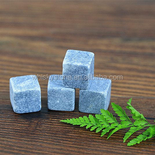 square shape gray color whiskey stone rocks for all kinds of drinks chill