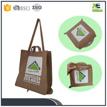 Imprinted Bespoke Trade Fair Promotional Foldable Nonwoven Shopping Bag Meeting Tote