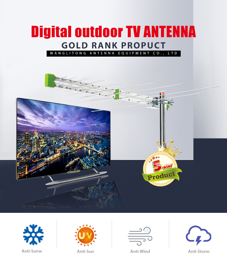 High Quality Customized outdoor uhf vhf tv antenna