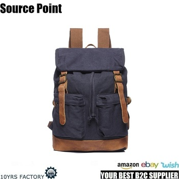 YD-1998 Durable Outdoor Hiking men designer Canvas Rucksack Drawstring Backpack