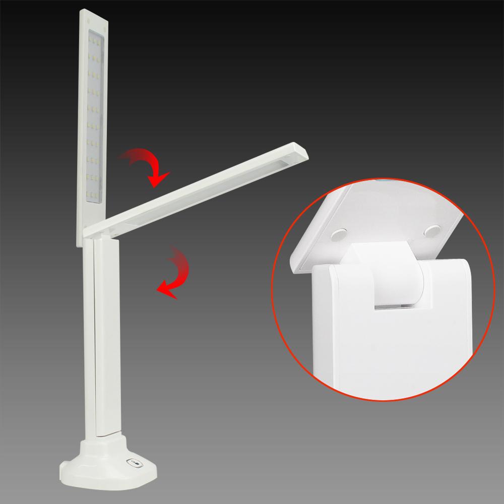 Modern Solar Led Dimmable Desk Lamp Folding Flexible Arm