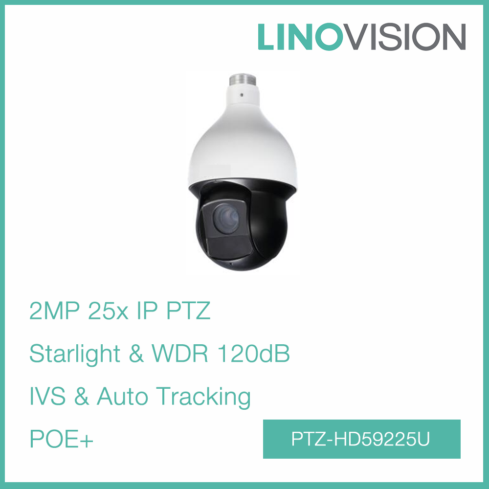 High-performance 2MP 25x Starlight H.265 Auto Tracking PTZ Network Camera