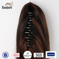 Claw/Jaw Clip Ponytail Virgin Human Hair Extensions
