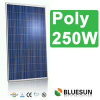 China made high efficiency poly photovoltaic solar module 60cell 250w applicated on big plant home use