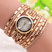 Vogue Crystal Decoration Bracelet Watch Lady Cheapest Colorful China Supplier