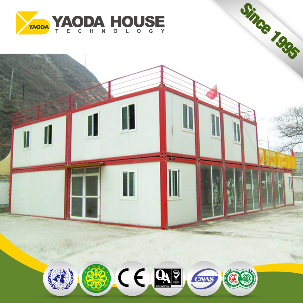 2017Promotional Steel Frame Luxury Container House 40Ft Villa