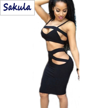 Bandage DRESS Sexy Night Clubwear 2015 Summer Style 2 Piece Sets Plus Size Women Clothing Hollow Out Party Prom Bodycon Dresses