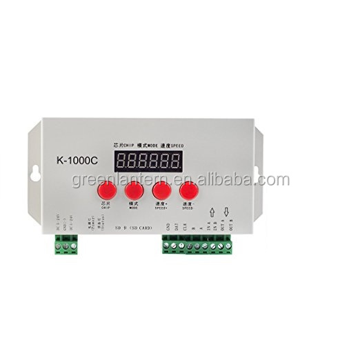 Hot sale K-1000C(T-1000S updated) RGB controller for WS2812B WS2813 WS2811 WS2801 Led strip 2048 Pixels with factory price
