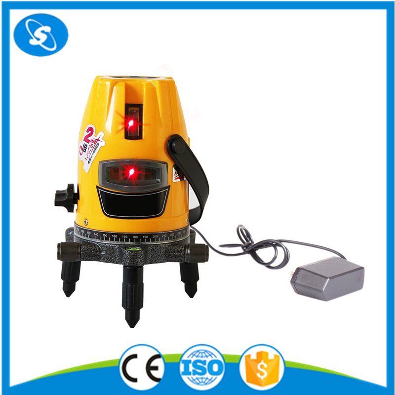 2V1H 3 lines red beam line 360 rotary auto leveling laser level machine