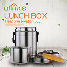 Protable double wall insulated stainless steel food carrier pot/ Lunch box/ Tiffin Box