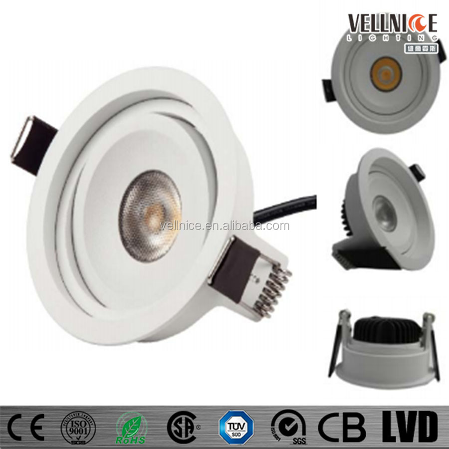 Vellnice newest design 7w up and down Adjustable citizen COB 7w LED Down Light/7W 83mm cutout round hotel COB LED downlight