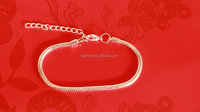 925 sterling silver plated snake chain bracelet with lobster clasp