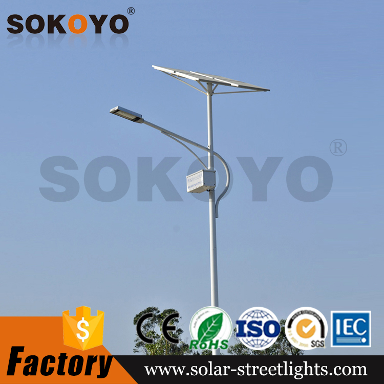 SOKOYO manufacturer CE ROHS IEC SASO COC certified IP65 led outdoor lighting project solar street light tender