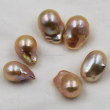 high quality pink large baroque pearls, hand paired