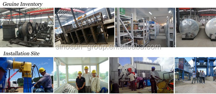 new condition 120t/h stationary asphalt hot mix plant manufacturer