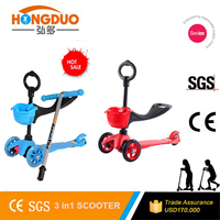 2016 new design children off road kick scooter/3 in 1 seat kick scooter