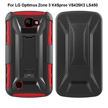 2018 Armor Mobile Phone Cover Shockproof Dual Layer Hybrid Defendable Protective Case For LG Optimus Zone 3 K4Spree VS425K3