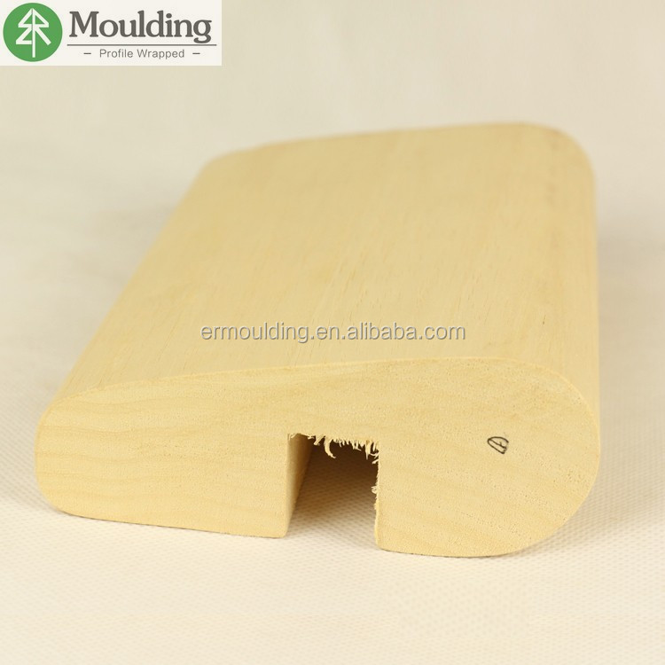 Solid Finger Joints Pine Wood Exterior Mouldings for Handrail Decoration