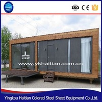 portable coffee shop small wooden house Flexible Installation Portable Camping House 20 foot wooden container homes