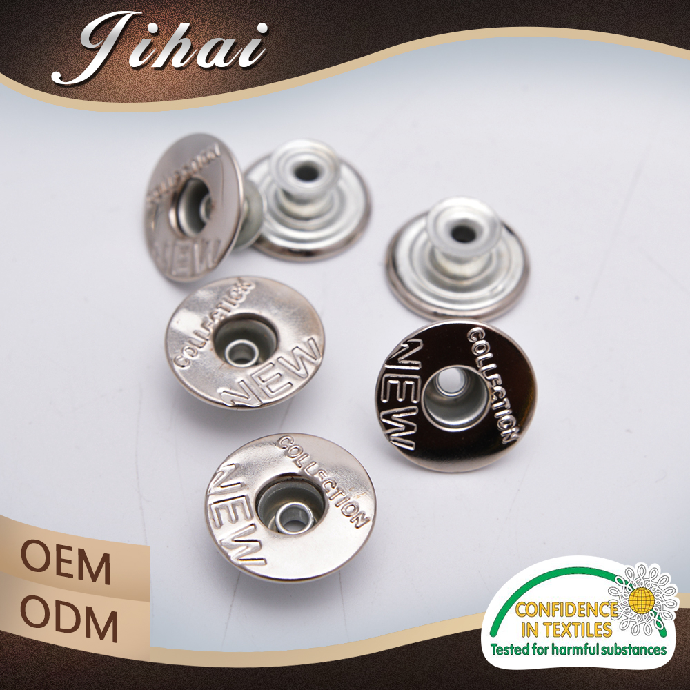 Different Types Of Button Manufacturers Nickel Free Jeans In Foshan