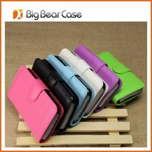 Factory flip leather wallet case for HTC 200