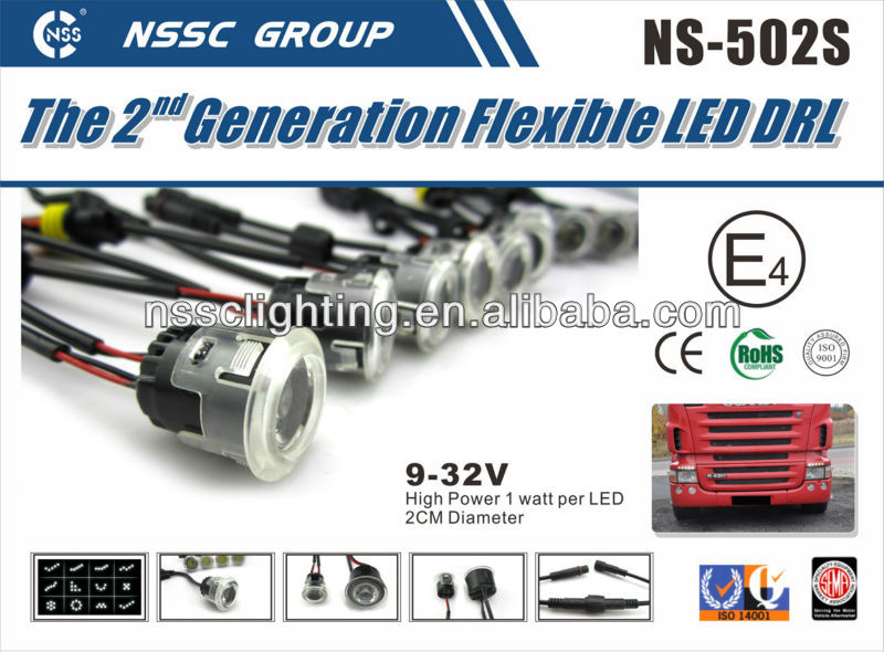 2013 NSSC E4 R87 9-32V latest DRL super brightness led day driving lights