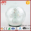 Cheap wholesale clear color changing glass hanging ball crafts