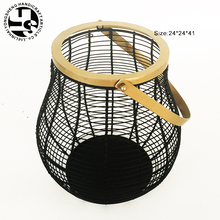 Home Decoration Golden/Black Iron Antique style Candle Lantern