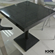 KKR customized square solid surface dining table and chair