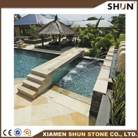 chinese supply cheap culture slate stone wall coping stone,factory wholesale natural wall coping culture slate stone