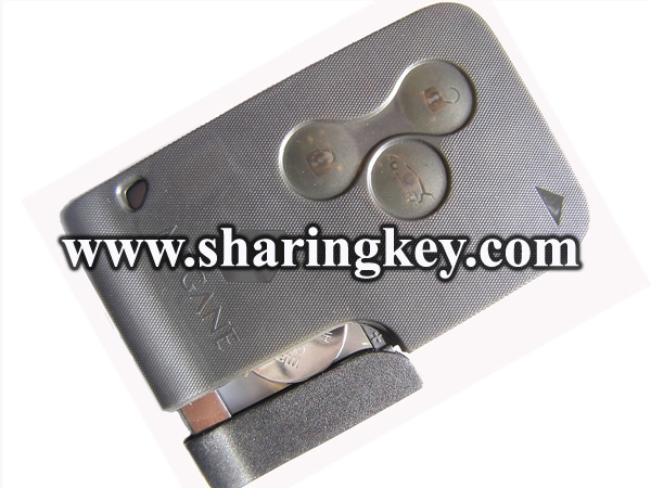 high quality 3 Button Renault Megana key card