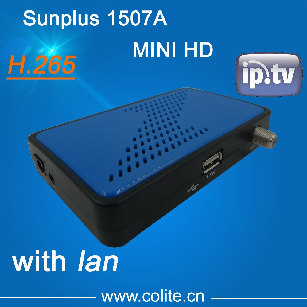 Sunplus 1507A H.265 MINI HD DVB-S2 with IPTV and VOD, Support WIFI,3G,LAN