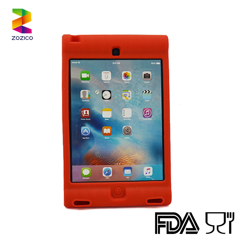 Hot selling for ipad mini 4 silicone tablet back pack cover