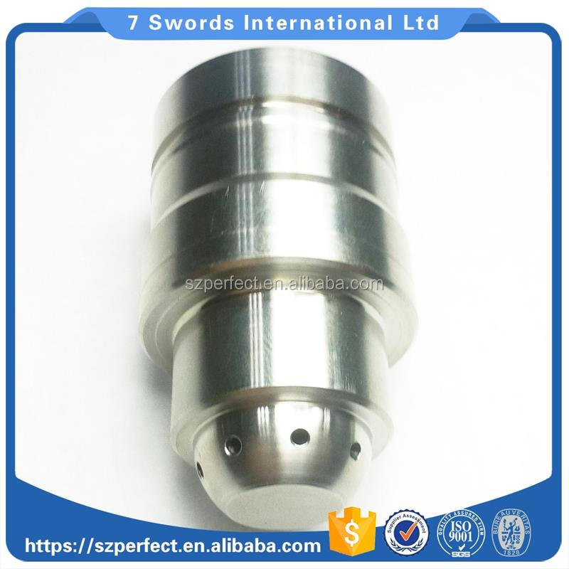 CNC machining AISI304 stainless steel tube/cnc turning SS304 flange with polished and painted