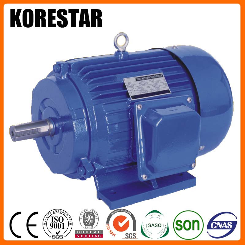 Korestar Y355M2-6 200KW 270HP ac induction electric motor 800 rpm